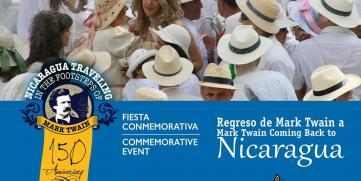 Fiesta conmemorativa del 150 aniversario de la llegada de Mark Twain a Nicaragua