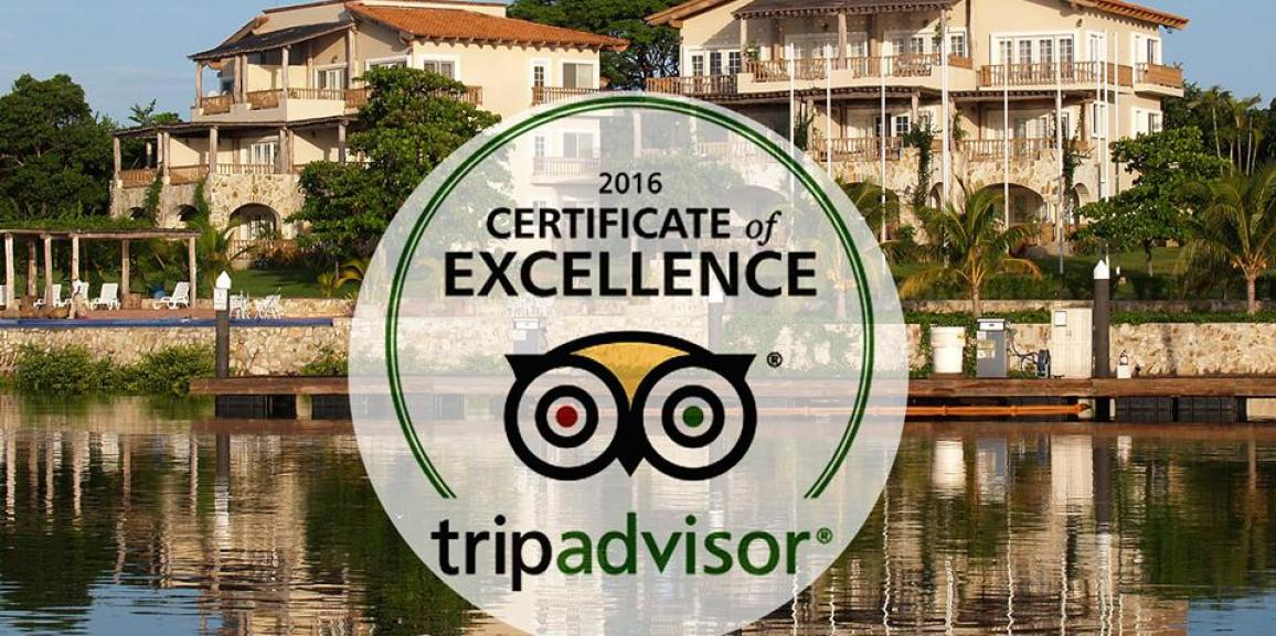 Marina Puesta del Sol obtiene Certificado de Excelencia 2016 de TripAdvisor.