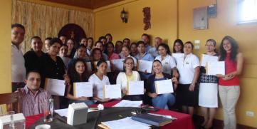 CANATUR entrega certificación Service Best a Empresarios de Matagalpa