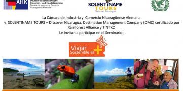 """Solentiname Tours les Invita a participar en el Seminario """"VIAJAR SOSTENIBLE ES MAS"""""""