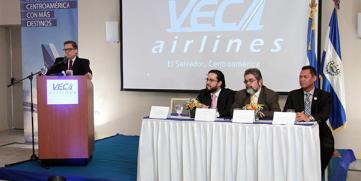 VECA AIRLINES INAUGURA RUTA MANAGUA-SAN SALVADOR